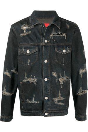 424 FAIRFAX Trucker jeansjacka med slitning