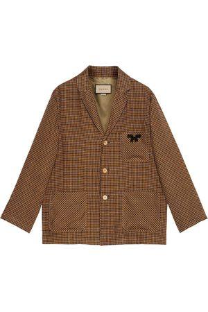 Gucci Man Jackor - Enkelknäppt jacka med spetsig slag