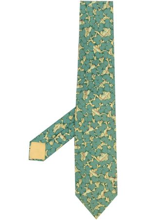 Hermès Pre-owned blommig sidenslips från 2000-talet