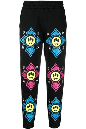 BARROW Träningsoveraller - Graphic-print mid-rise track pants
