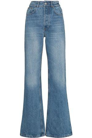 Paco rabanne Kvinna Bootcut - High-rise wide-leg jeans