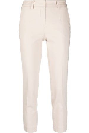BLANCA Cropped skinny-fit trousers