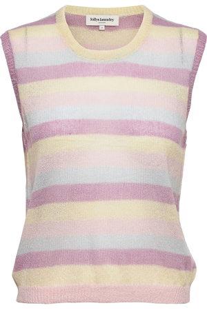 Lollys Laundry Boho Vest Vests Knitted Vests Rosa