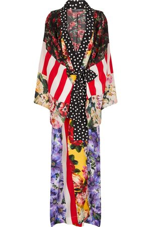 Dolce & Gabbana Kvinna Kappor - Printed silk crêpe robe