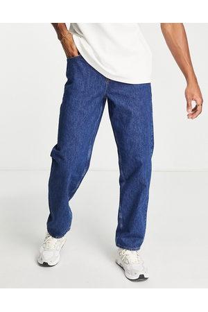 ASOS Man Straight - – Baggy jeans i mellanblå tvätt