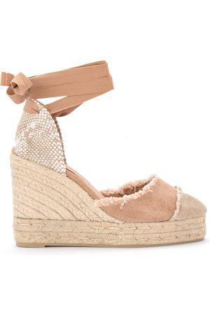 Castaner Kvinna Högklackade sandaler - Catalina canvas and natural jute wedge sandal