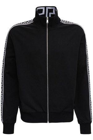 VERSACE Man Sweatshirts - Sweatshirt with Greca Inserts