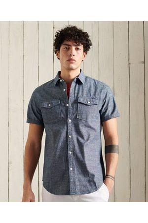Superdry Man Kortärmade skjortor - Denim Loom kortärmad skjorta