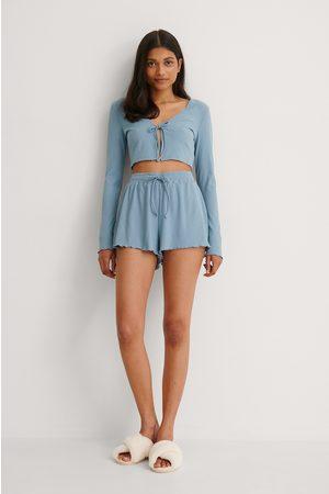 NA-KD Kvinna Myskläder - Återvunna Ribbstickade Loungewear Shorts