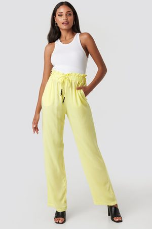 NA-KD Paperbag Wide Leg Trousers