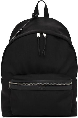Saint Laurent Logo Nylon City Backpack