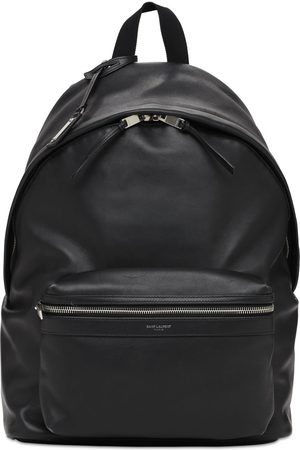 Saint Laurent Man Ryggsäckar - Logo Leather City Backpack