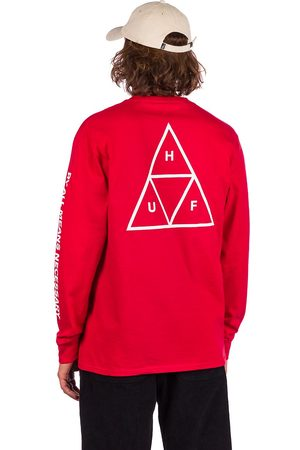 HUF Essential TT Long Sleeve T-Shirt red