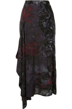 YOHJI YAMAMOTO Kvinna Mönstrade kjolar - Draperad kjol med abstrakt tryck