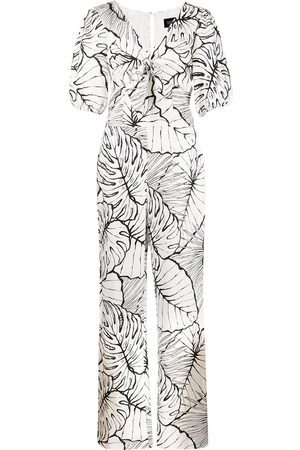 Marchesa Notte Kvinna Playsuits - Lövmönstrad jumpsuit
