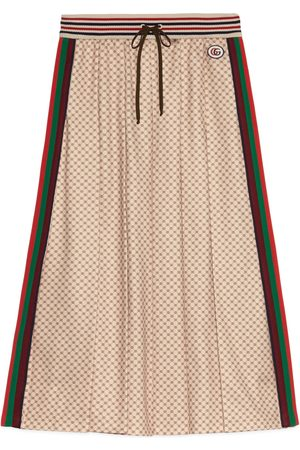 Gucci Interlocking G print pleated skirt