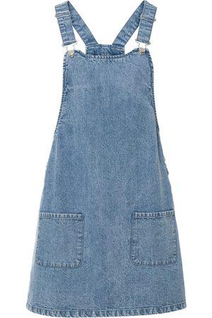 bonprix Kvinna Sommarklänningar - Snickarklänning i jeanstyg