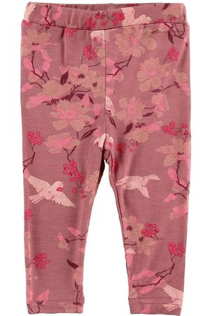 PETIT by Sofie Schnoor Flicka Leggings - Leggings - Lily - Mörkrosa m. Blommor