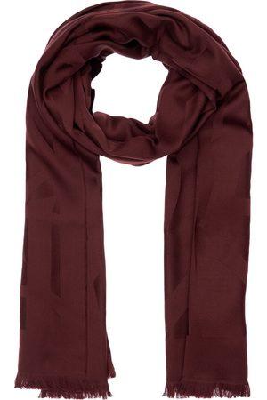 Saint Laurent Ysl Jacquard Wool Scarf