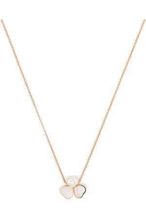 Chopard Happy Heart halsband i 18K roséguld med pärlemor och diamant
