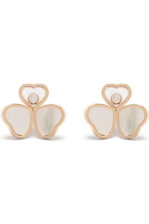 Chopard Happy Hearts Wings stiftörhängen i 18K roséguld med diamant och pärlemor