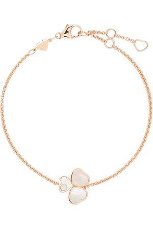 Chopard Happy Hearts Wings diamantarmband i 18K roséguld med pärlemor