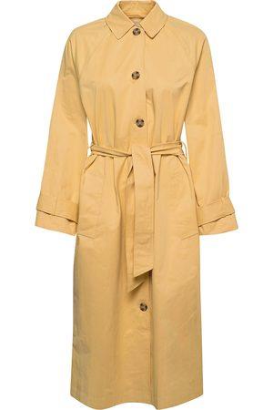 Envii Kvinna Trenchcoats - Envermund Jacket 6511 Trench Coat Rock Gul