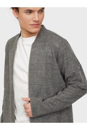 Ciszere Man Bomberjackor - Yoshi fleece bomber Skjorta Stone Grey