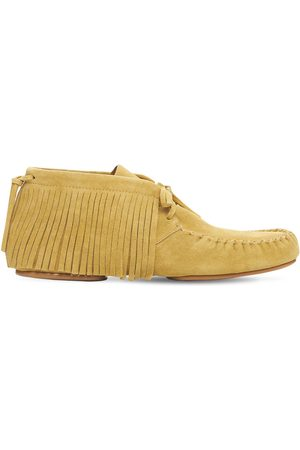 Loewe Man Loafers - Fringed High Top Suede Loafers