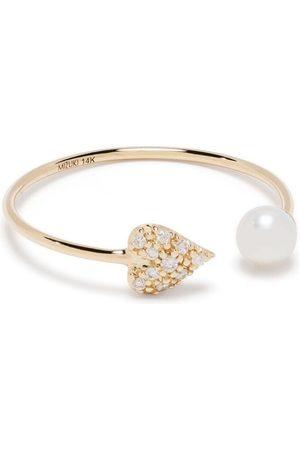 Mizuki Kvinna Ringar - Ring i 14K gult med pärla och diamant