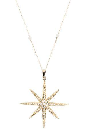 Mizuki Kedjehalsband i 14K gult med pärla och diamant