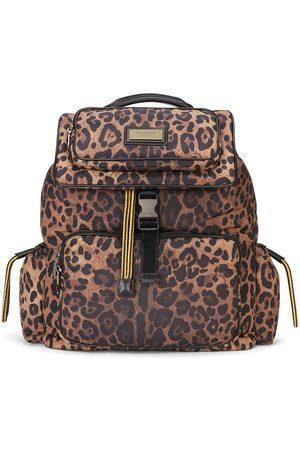 Dolce & Gabbana Leopardmönstrad ryggsäck