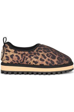 Dolce & Gabbana City leopardmönstrade slip on-skor