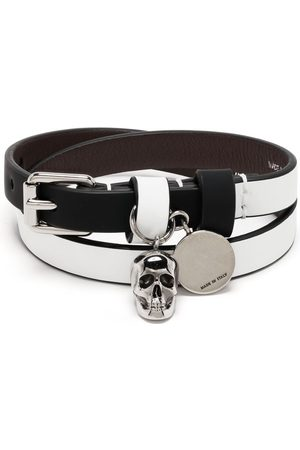 Alexander McQueen Armband med dödskalle