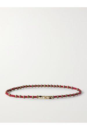 LUIS MORAIS Man Armband - Bead and 14-Karat Gold Bracelet