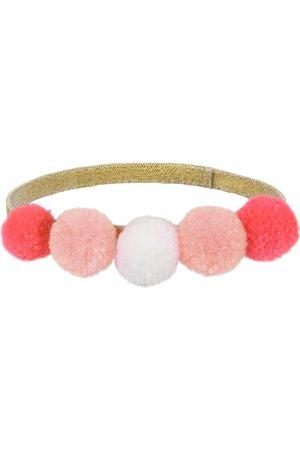 Meri Meri Huvudbonader - Maskeradkläder - Pannband m. Pomponger - Pink