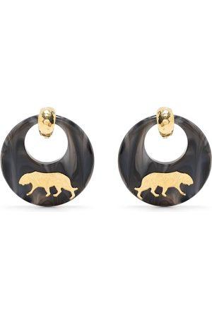 Gas Bijoux Kvinna Örhängen - Tigre oversize-örhängen