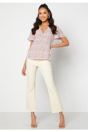 Object Belle MW Coated Flared Pants Sandshell M