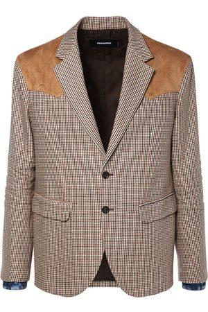 Dsquared2 Houndstooth Wool Blend Blazer