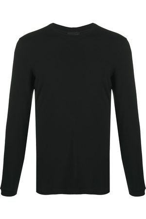 Armani Man Långärmade - Långärmad enfärgad t-shirt