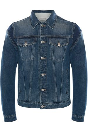 Alexander McQueen Graffiti Cotton Denim Jacket