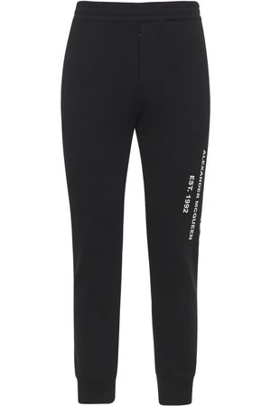 Alexander McQueen Man Joggingbyxor - Graffiti Print Cotton Sweatpants