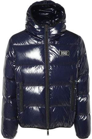 Dsquared2 Logo Tag Shiny Nylon Down Jacket