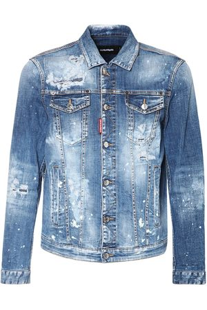 Dsquared2 Man Jeansjackor - Distressed Dan Cotton Denim Jacket