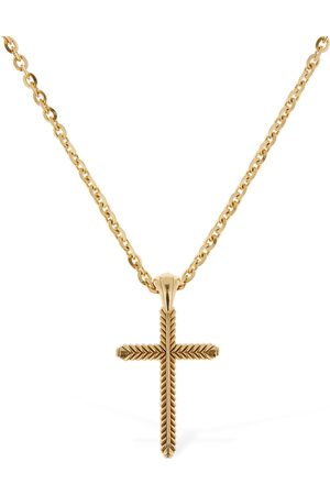 EMANUELE BICOCCHI Man Halsband - Cross Pendant Chain Necklace