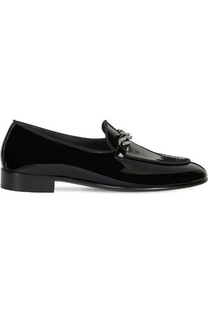 Giuseppe Zanotti Man Loafers - 15mm Patent Leather Loafers W/ Chain