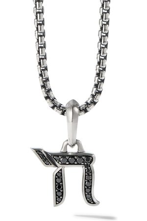 David Yurman 17mm diamond chain amulet enhancer pendant