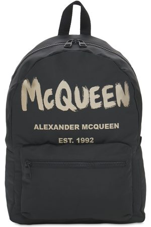 Alexander McQueen New Mcqueen Graffiti Nylon Backpack