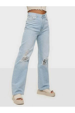 Dr Denim Kvinna Straight - Echo Straight Light Blue