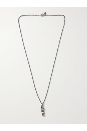 Alexander McQueen Man Halsband - Burnished -Tone Pendant Necklace
